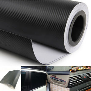 3d Car Interior Accessories Panel Black Carbon Fiber Vinyl Wrap Diy Sticker