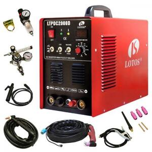 Lotos Technology 04 zvgr 0o8d Ltpdc2000d Plasma Cutter Tig Stick Welder 3 In
