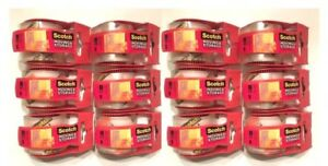 Scotch 3m Moving Storage Packing Tape 12 Rolls W Dispenser 1 88 X 27yds Clear
