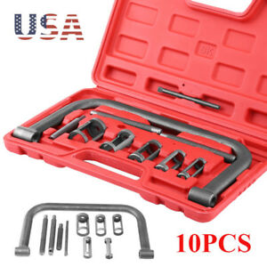 Valve Spring Clamps Compressor 10 Pcs Cars Motorcycle Tool Bit Set Ohv Ohc Kit