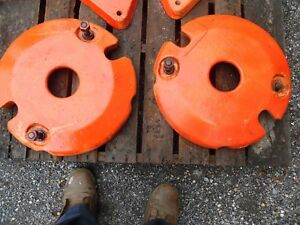ALLIS CHALMERS  MODEL B TRACTOR  REAR WHEEL WEIGHTS   HARD TO FIND