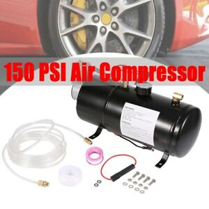 Air Compressor W 0 8 Gallon 3l Tank For Train Horn Motorhome Tires 12v 150psi