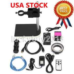14mp Hdmi Usb Digital Industry Video Microscope Set Camera C mount Lens Dv Pink