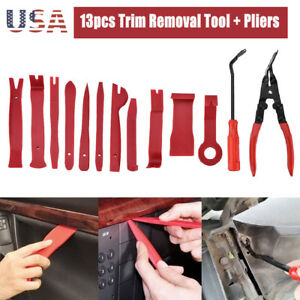 Seal Trim Removal Pry Bar Panel Door Interior Clip Remover Pliers Tool Kit Us