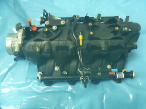 New 00 02 Gm Upper Intake Manifold Throttle Body Fuel Rail And Injectors At Oem