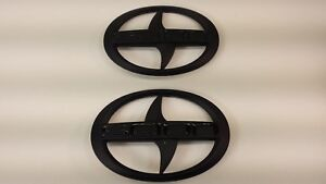 1 Set Brand New Scion Tc Front Rear Black Badge Emblem 2011 2016 Tc F R Mbb
