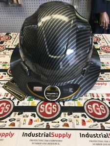 Hdpe Hydro Dipped Fg Black Full Brim Hard Hat With Fas trac Suspension