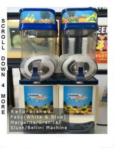 Faby Granita Margarita Bellini Slush Machine white blue