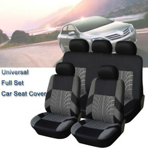 4 9pcs set Sports Car Seat Cover Front Seat Mat Pad Protector Breathable Full