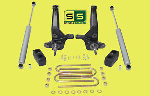2001 2010 Ford Ranger 2wd 4 3 Lift Kit Spindles lift Blocks 2 Rear Shocks