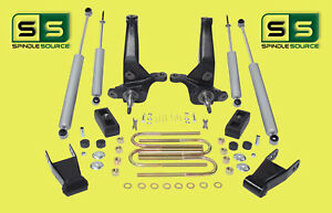 2001 2010 Ford Ranger 2wd 4 4 Lift Kit Spindles Blocks Shackles 4 Shocks