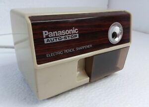 Vintage Made In Japan Panasonic Electric Pencil Sharpener Auto Stop Kp 110