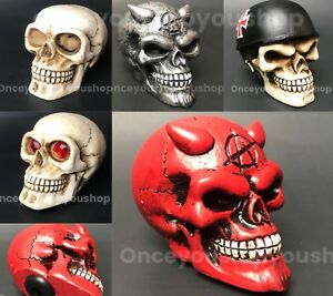 Skull Anarchy Silver Devil Head Shift Knob Car Manuel Stick Death Hot Rod Drag