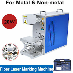 30w Portable Fiber Laser Marking Machine Work Piece Engraving Marking 110x110mm