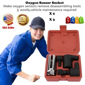 5pcs O2 Oxygen Sensor Socket Thread Chaser Install Remove Wrench M18 M12 Vacuumx