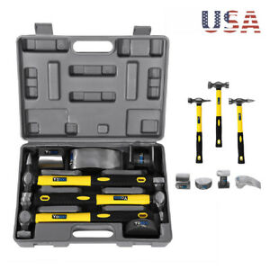 7pcs Hand Car Auto Body Work Hammer Dolly Fender Tool Set Dent Repair Set Kit Us