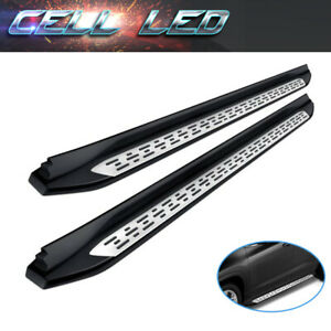 For 07 18 Chevy Silverado Double Ext Cab Nerf Bars Side Steps Running Boards Blk