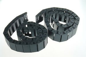 2x R38 18x50mm Black Nylon 1m Semi Closed Cable Drag Chain Wire Carrier For Cnc