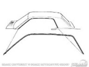 64 66 Coupe Roof Rail Seal Also Fits 67 68 Mercury Cougar C5zz 6551222