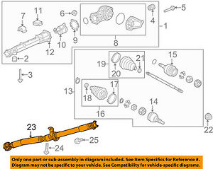 Gm Oem Rear Drive Shaft 23167530