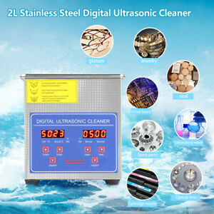 Stainless Steel 2l Industry Heated Ultrasonic Cleaner Heater Timer