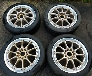 17 Jdm Rays Volk Racing Gt N Gold Forged 2 Piece Wheels Rims 5x114 3