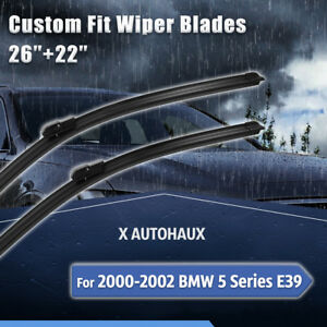 26 22 Exact Fit Windshield Wiper Blades For 2000 2001 2002 Bmw 5 Series E39