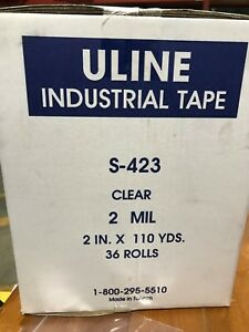 Uline Industrial Packing Tape 2 X 110 Yards 2 0 Mil Clear 36 Per Boxes