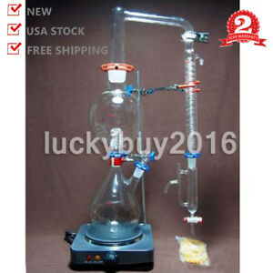 Glass Essential Oil Steam Distilling Apparatus Hydrosol Distillation Kit Graham