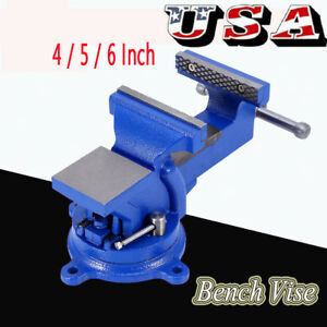 4 5 6 Heavy Duty Mechanic Bench Vise Table Top Clamp Press Locking Swivel Base