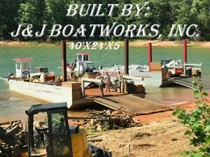 New 40 x24 x5 Sectional Barge Work Barge Dredge Barge
