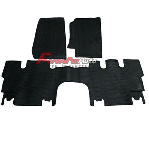Black Rubber Slush Floor Mats For 07 13 Jeep Wrangler Unlimited 4 Door Brand New