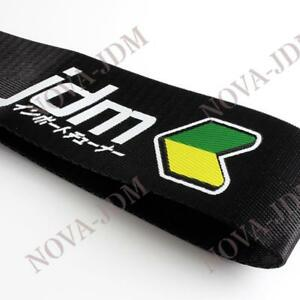 Jdm Racing Beginner High Strength Black Towing Strap Hook For Front Rear Bumper