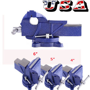 New 4 5 6 Vise Work Table Bench Clamp Swivel Rotated Vice Repair Tool Us