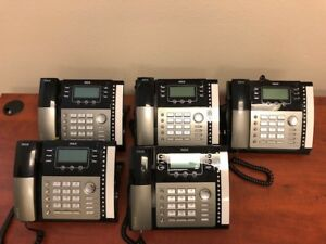 5 rca Visys 25424re1 4 line Business Phone W power Adapter Cords