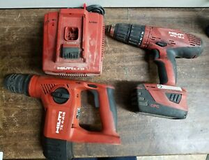 Hilti Cordless Hammer Drill driver Rotary Hammer Charger Battery And Bag A x