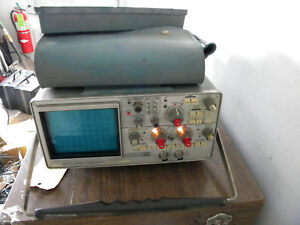 Tektronix 434 Dual Channel Storage Oscilloscope With Manuals Won t Power On
