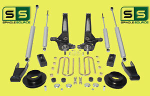 01 10 Ford Ranger 2wd 6 3 Lift Kit Spindles fr Spacers shackle blocks 4shocks