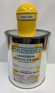 Chrome Yellow Gallon Single Stage Acrylic Enamel Car Auto Paint