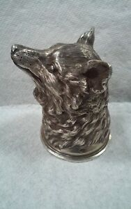 Russian Silver Stirrup Cup Fox St Petersburg 1908 1917 Hallmarked