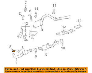 Gm Oem Exhaust converter Pipe Clamp 11611439