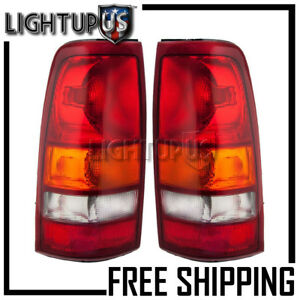Left Right Pair Rear Tail Lights For 1999 2003 Gmc Sierra Chevrolet Silverado