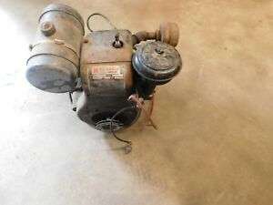 Vintage Wisconsin Aenld Heavy Duty Air Cooled Engine Motor runs