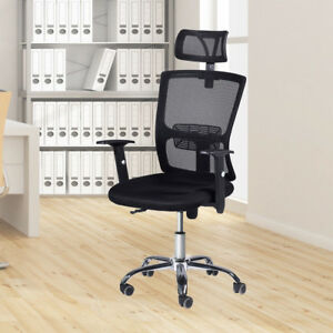 Mesh High Back Office Chair Computer Desk Task Executive With Headrest Ergonomic
