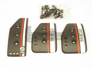 Sparco Settanta Pedal Set Clutch Brake Accelerator Black Manual Transmission Mt