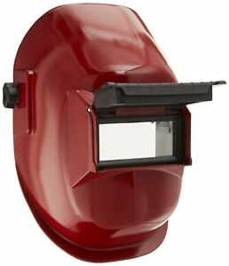 Sellstrom 29371 Nylon Red Coated Welding Helmet With 4 1 4 Width X 2 Height In