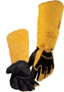 Revco Bsx Premium Pigskin cowhide Back Long Cuff Stick Welding Gloves Bs99 xl