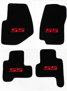 New 2002 2007 Chevy Trailblazer Floor Mats Black Embroidered Ss Logo Red All 4