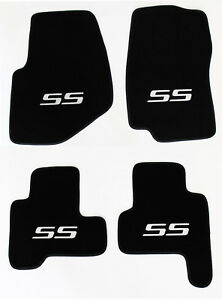 New 2002 2007 Chevy Trailblazer Floor Mats Black Embroidered Ss Logo Silver All