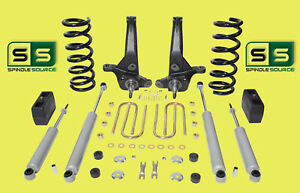 01 10 Ford Ranger 2wd 7 4 Lift Kit 4 Cyl Spindles coils lift Blocks 4 Shocks
